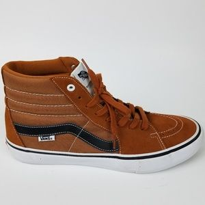 Vans Sk8 Hi Ankle Shoe Pro Brown Sz 12